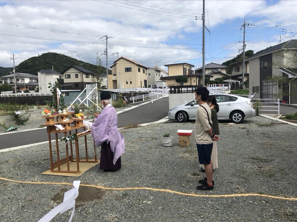 清らかな地鎮祭